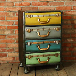 Creative Antique Retro Metal Chest Of Drawers Decoration Box Cabinet Furniture