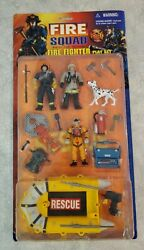Extremely Rare Fire Squad Emergency Joint Forces Play Set - Mib - Fire Fighter
