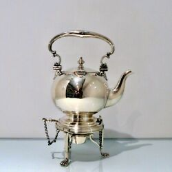 19th Century Antique Victorian Sterling Silver Tea Kettle Andstand Birmingham 1874