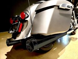 Supertrapp 147-21820 Black Stout Slip-on Mufflers Indian Touring 14-20