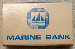 Vintage Marine Bank- Matchbook - Box Style - Master Charge Logo- Erie, Pa 1970's
