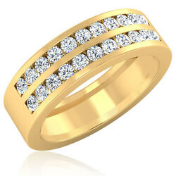 0.88 Ct Mens Natural Diamond Rings 14k Yellow Gold Engagement Bands Size 8 9 10