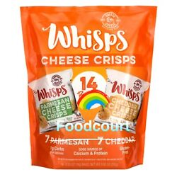 Cello Whisps Variety Parmesan And Cheddar Cheese Crisps 14 Bags 8.82oz Exp.6/24/21