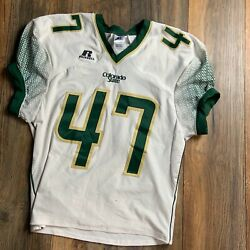 Auth Ncaa Colorado State Rams Game Worn 47 Sewn Football Jersey - Sz L Gamer