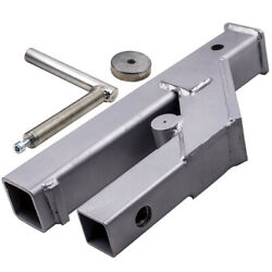 Clamp On Trailer Hitch 2 Ball Mount Receiver For Bobcat Deere Tractor Bucket