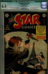 All Star 57 Cgc 6.5 Staples Cleaned-last Golden Age Jsa-great Copy