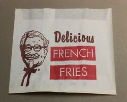 Vintage Original KENTUCKY FRIED CHICKEN FRENCH FRIES PAPER BAG Colonel Sanders