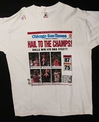 Chicago Bulls Hail To The Champs 4th Nba Title T- Shirt. New With Tags.
