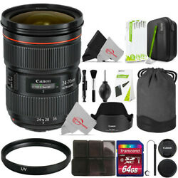 Canon Ef 24-70mm F/2.8l Ii Usm Lens With Uv And Cleaning Accessory Kit