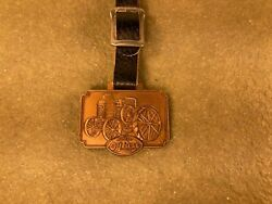 Vintage Advance Rumely Thresher Co La Porte In Oilpull Tractor Pocket Watch Fob