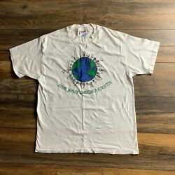 Vintage 90's Protect Mother Earth Dr. Suess Double Sided Recycle White Tee Sz L