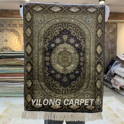 YILONG 1.5'x2' 800 Lines Handknotted Silk Tapestry Wall Hanging Area Rug Y016H