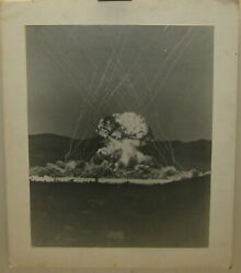 Original 1955 Operation Teapot Military Effects Test Met Shot Nuclear Bomb Photo
