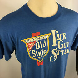 Vintage 80s Old Style Distressed Thin Beer T Shirt Heilemans Ive Got Style Tee