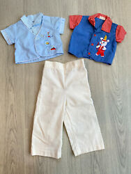 Vtg Baby Boy Clothes 50#x27;s 60s Button Up Cotton Candy 3 6 months $30.00