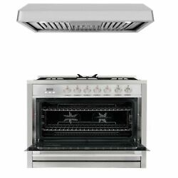 Commercial-style 36 In. 3.8 Cu. Ft. Single Oven Dual With 36 In. Ducted Under...