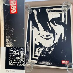 2001 Shepard Fairey Giant Signed Numbered Limited Edition Of 100 Screen Print