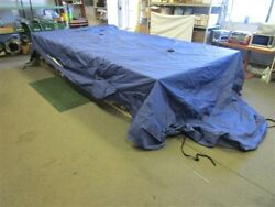 Suntracker Fishinand039 Barge 20and039 36241-27 Pontoon Cover Blue And03916 280 X 129 Boat