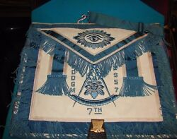 M.h.k. 7th Masonic District Case, Carrying Bag Collectors Items 1957 -pdogm