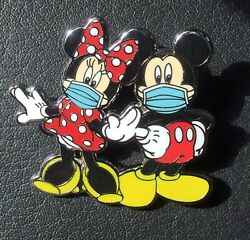 "Disney Pin Mickey Mouse Minnie Mouse Pin Mickey In Mask Fantasy Pin 1 3 4"" $9.98"