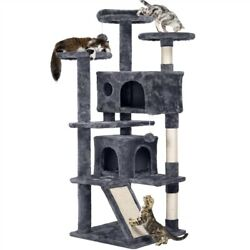 55quot; Cat Tree Tower Condo Furniture Scratching Scratch Post Pet Kitty Play House
