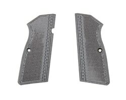 Pachmayr G10 Gray Black Checkered Grips for Browning Hi Power Pistols 61261