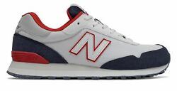 New Balance Men#x27;s 515 Shoes White with Black