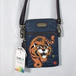 NWT Chala Convertible PouchPurseCrossbody Bag Tiger Design 2 Straps Included $26.99