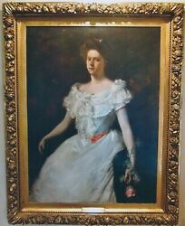 William Merritt Chase 'Lady with a Rose' Oil on Canvas 1901- $600K Apr Value*