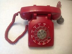 1950and039s 60and039s Red Western Electric Bell System 500 Telephone Retro