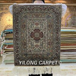YILONG 1'x1.5' 1000Lines Handknotted Silk Tapestry Fine Weave Artwork MC006H