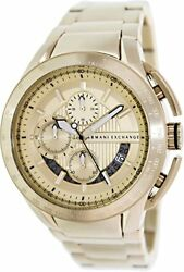 Armani Exchange Zero Light Chronograph Champagne Dial Gold-plated Watch Ax1407