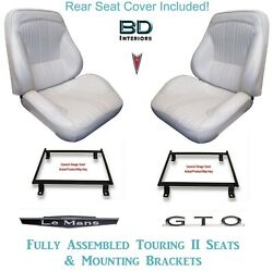 1964 Lemans And Gto Touring Ii Front Bucket Seats Adapter Brackets And Rear Cover