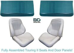 1964 Lemans And Gto Touring Ii Assembled Front Bucket Seats And Front Door Panels