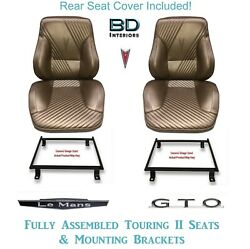 1965 Lemans And Gto Touring Ii Front Bucket Seats Adapter Brackets And Rear Cover