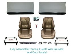 1965 Lemans And Gto Touring Ii Assembled Bucket Seats Adapter Brackets And Panels