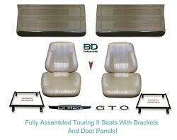 1967 Lemans And Gto Touring Ii Assembled Bucket Seats Adapter Brackets And Panels