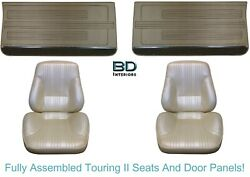 1967 Lemans And Gto Touring Ii Assembled Front Bucket Seats And Front Door Panels