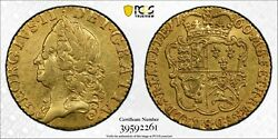 1760 Great Britain 1/2 Half Guinea Gold Coin George Ii Pcgs Xf-details Cleaned
