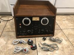 Vintage 1950and039s Grason Stadler Tube Audiometer Model 162 W/ Accessories Turns On