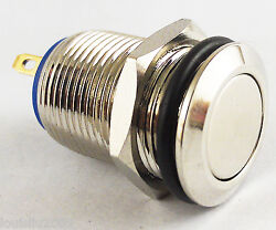 50pcs Metal Flat Push Button Momentary Horn Waterproof Resetable Switch 12mm