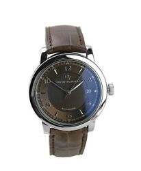 David Yurman Stainless Steel And St. Silver Watch Brown New Boxed 3200 Swiss Made