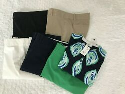 Crown & Ivy lot includes 5 pairs slim pants and 1 lightweight cardigan size 6