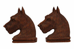 A Pair Of Ornawood Scottie Dog Bookends Vintage