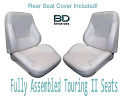 1968 Lemans And Gto Convertible Touring Ii Front Seats Assembled And Rear Seat Cover