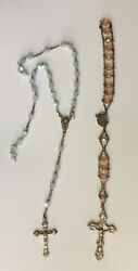 Two Vtg Antique Rosary Beads Both From Italy Catholic Religious