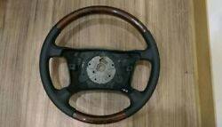 1994-2003 For Bmw E38 E39 7 And 5 Series Steering Wheel Walnut Wood Black Leather