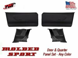 1964 - 66 Mustang Molded Sport Door And Quarter Panel Set - Your Choice Of Color