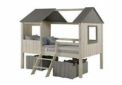 Full House Low Loft Rustic Sand/rustic Grey With Dual Loft Drawers