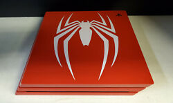 Sony Playstation 4 Pro Ps4 Marvel's Spider-man 1tb Limited Edition Console Only